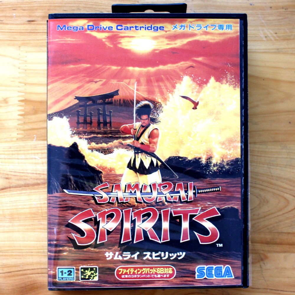 Samurai Spirits 16 Bit SEGA MD Game Card With Retail Box For Sega Mega Drive For Genesis