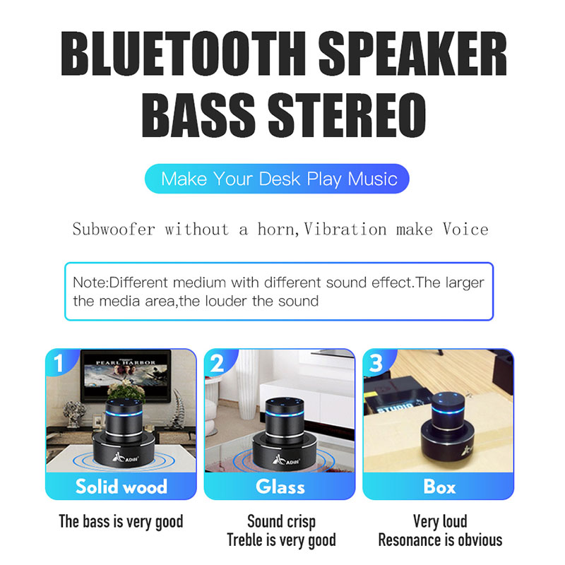 Image 2 - Adin 26W NFC Vibro Column Vibrodynamic Wireless Bluetooth Speaker Vibrating Bass Resonance Vibration Stereo Portable Subwoofer-in Portable Speakers from Consumer Electronics
