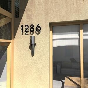 Image 4 - Iron art Modern Plaque Number House Hotel Door Address Digits Metal Plate Sign 0 9