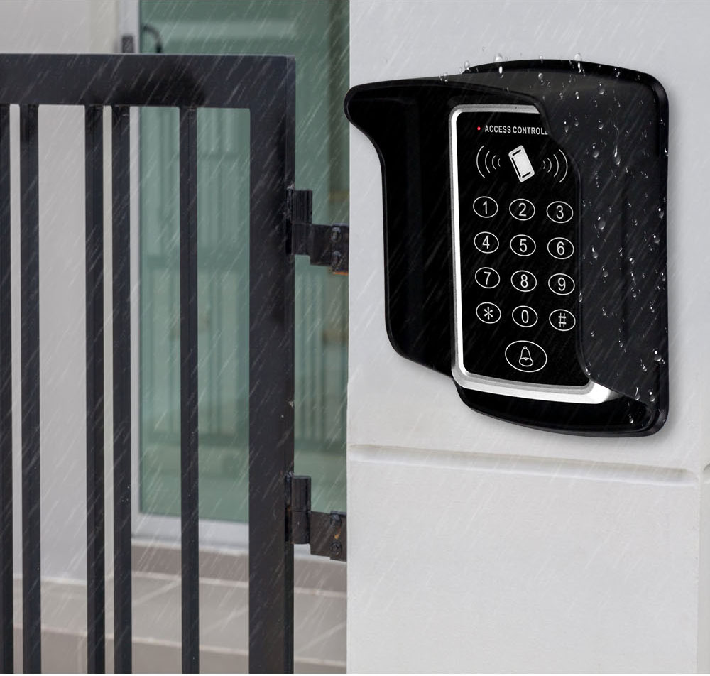 HTB10R6Qd8Kw3KVjSZTEq6AuRpXaJ RFID Keypad Keyboard Access Control System Waterproof Cover Outdoor 10pcs EM4100/TK4100 Keyfobs Door Opener for Home Lock System