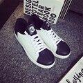 Британский Стиль Низким Банда Оболочки ног нескользящей обуви, чтобы мода кожа обувь повседневная обувь черный и белый мужская обувь