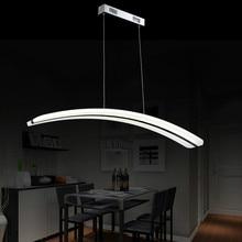 modern simple long acrylic led pendant light for dining room bar living room 93cm 80265v