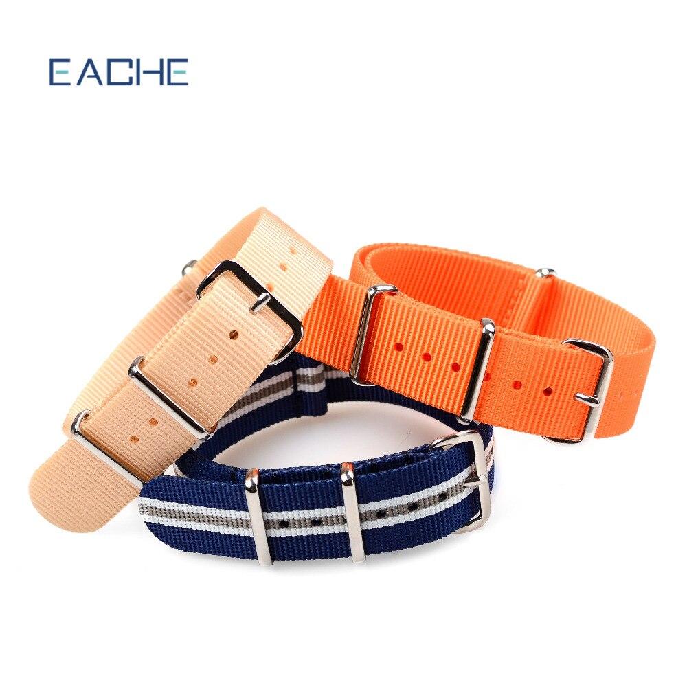Ремешок для часов EACHE премиум качества из нейлоновой ткани NATO, 20, 22 мм, в наличии