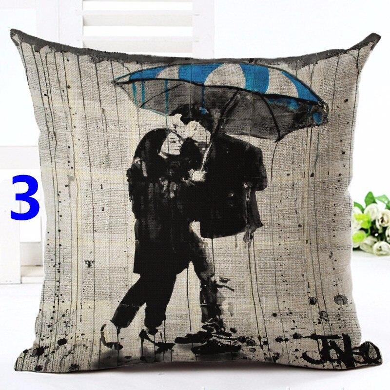 Modern British Art Cotton Linen Pillowcase Classical Dancer Cushions Decorative Pillows Home Decor Sofa Throw Pillows Almofadas