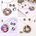 Star Product Big Discount Promotion 19 Styles Rainbow Colorful Enamel Jewelry Set ,1set/pack