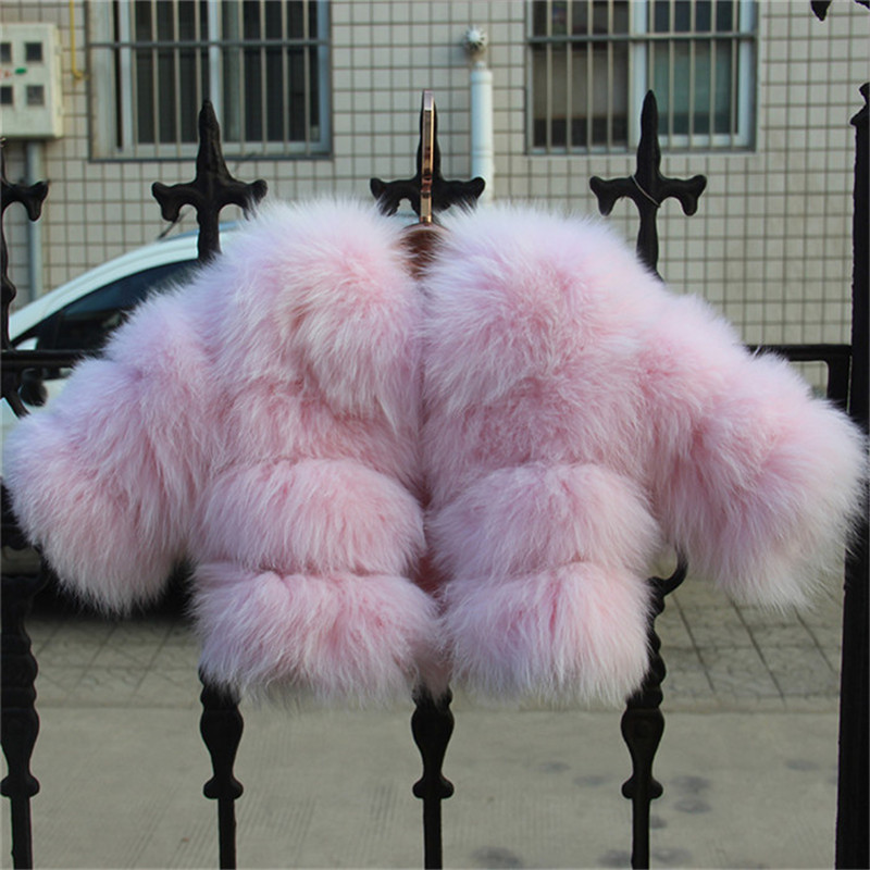 2017 New Children Real Fox Fur Coat High Quality Outwear Coat Winter Warm Babys Thick Natural Thick Clothing Jacket DC#1 5 colors 2017 new long fur coat parka winter jacket women corduroy big real raccoon fur collar warm natural fox fur liner