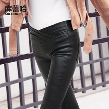 2016 Autumn And Winter Competitive Products European Underpant Woman PU leggings 8810