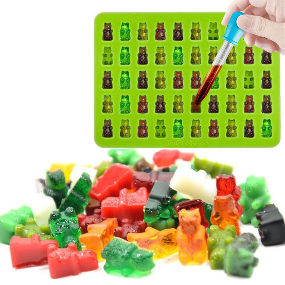 Wondrous Cute Mini 3D Gummy Bears Silicone Mold Ice Cream Moulds Cool Candy Funny Birthday Cards Online Benoljebrpdamsfinfo