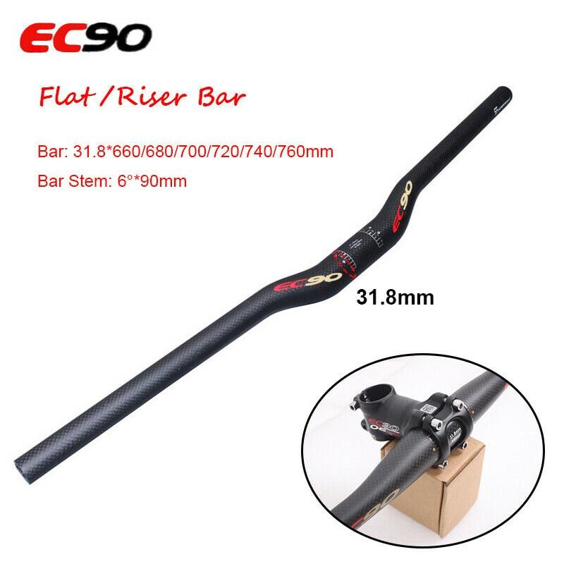 bike riser bar   carbon fiber 31.8mm MTB road handlebar black