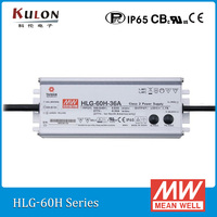 Original Mean well LED driver HLG 60H 20A 60W 20V 3A adjustable AC/DC Power Supply with PFC