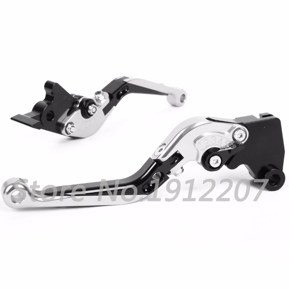ФОТО For Kawasaki ZX6R/636 2007-2016 Foldable Extendable Brake Clutch Levers Aluminum Alloy CNC Folding&Extending Hot Sale Levers