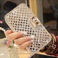 Coque For IPhone 5C Case Glitter Rhinestone Leather Case For IPhone Apple Iphone 6 7 Strass