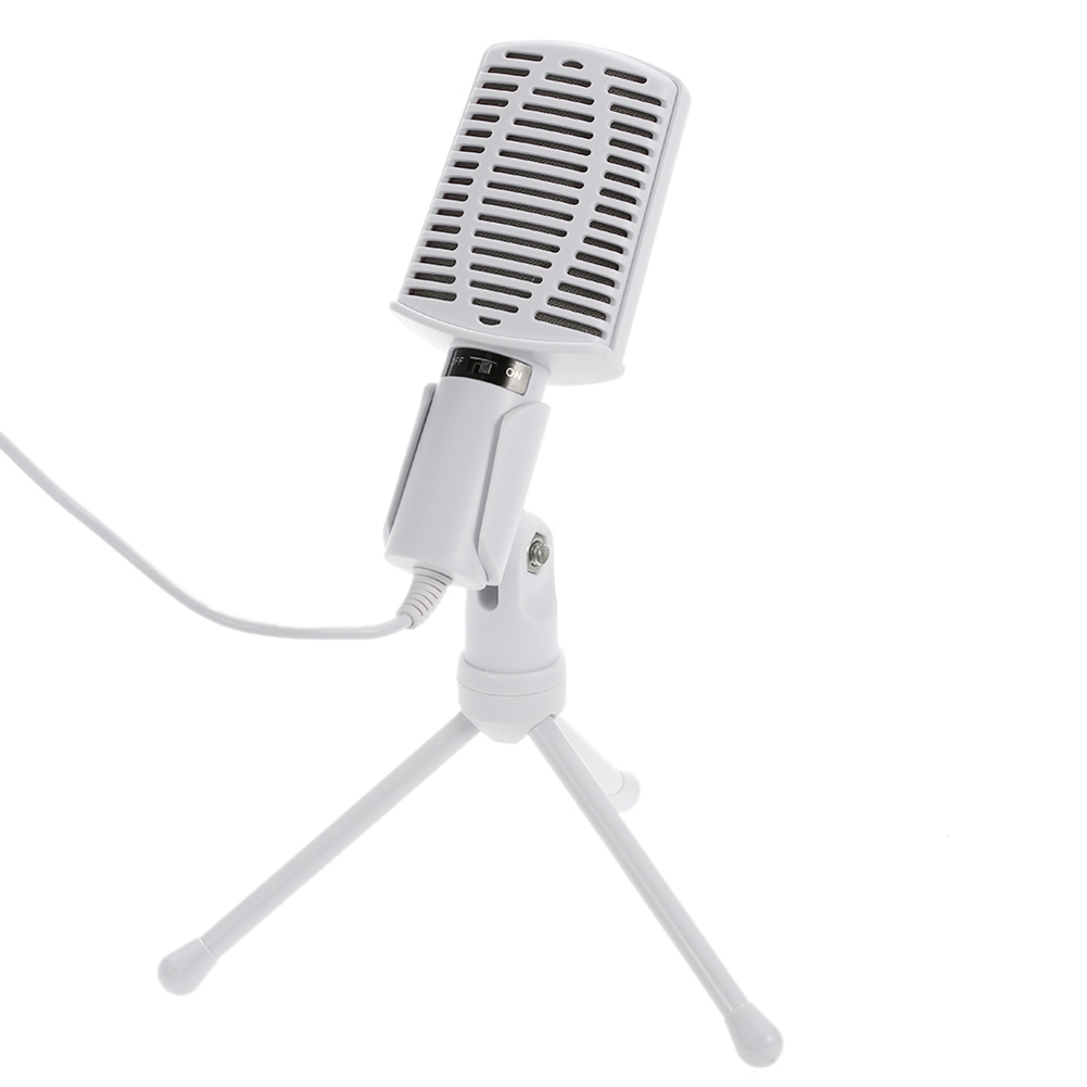 AUX Jack de 3.5mm Com Fio Microfone Condensador profissional Microfone De Mesa Desktop Portátil Com Tripé Suporte Para PC Computador de Transmissão