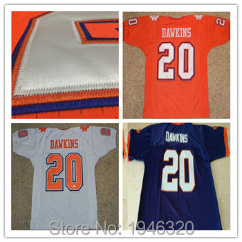 buy popular 1cd7c 75c49 Stitched #20 Brian Dawkins Jersey Clemson Tigers Jerseys ...