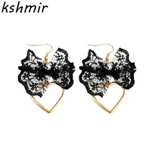 2018 South Korea lace flower earrings girl students love lady personality stud wholesale restoring ancient ways