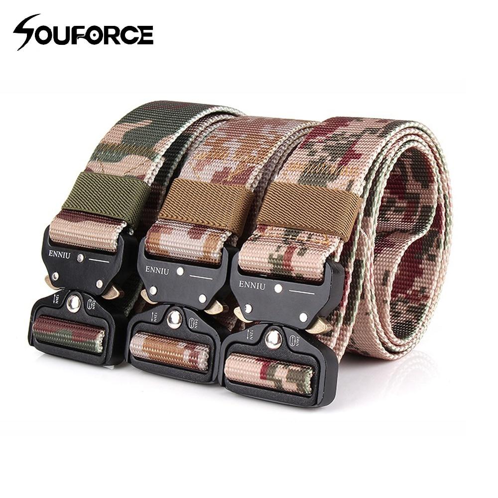 Camo Style Deduction Outside Belt Length 125cm Width 3.8cm Tactical Nylon Belt for Outdoor Training Sport
