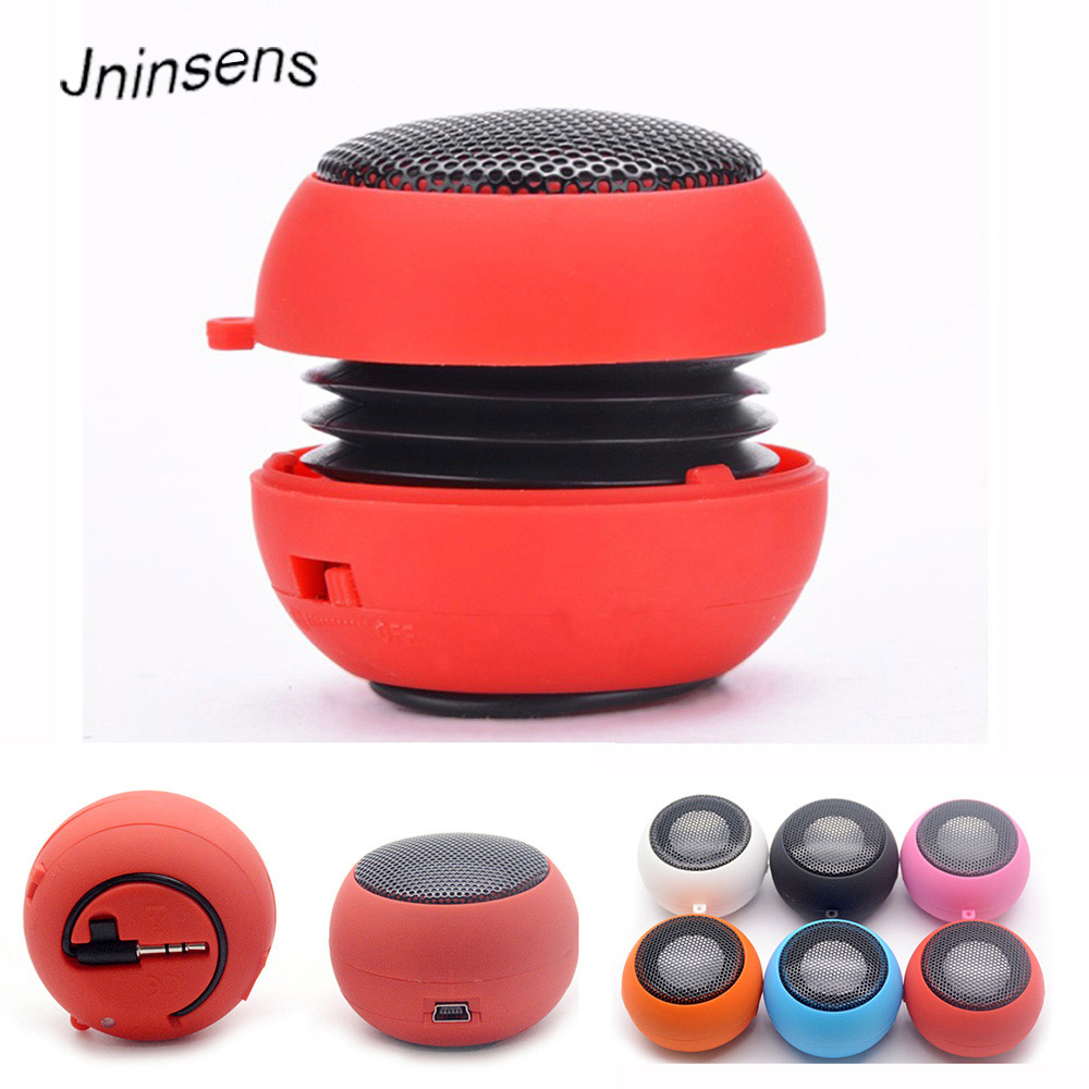 Hamburger Mini Speaker Mp3 Music Loudspeaker Player Outdoor 3.5mm  Wired Speaker Sound Box for Computer Phones