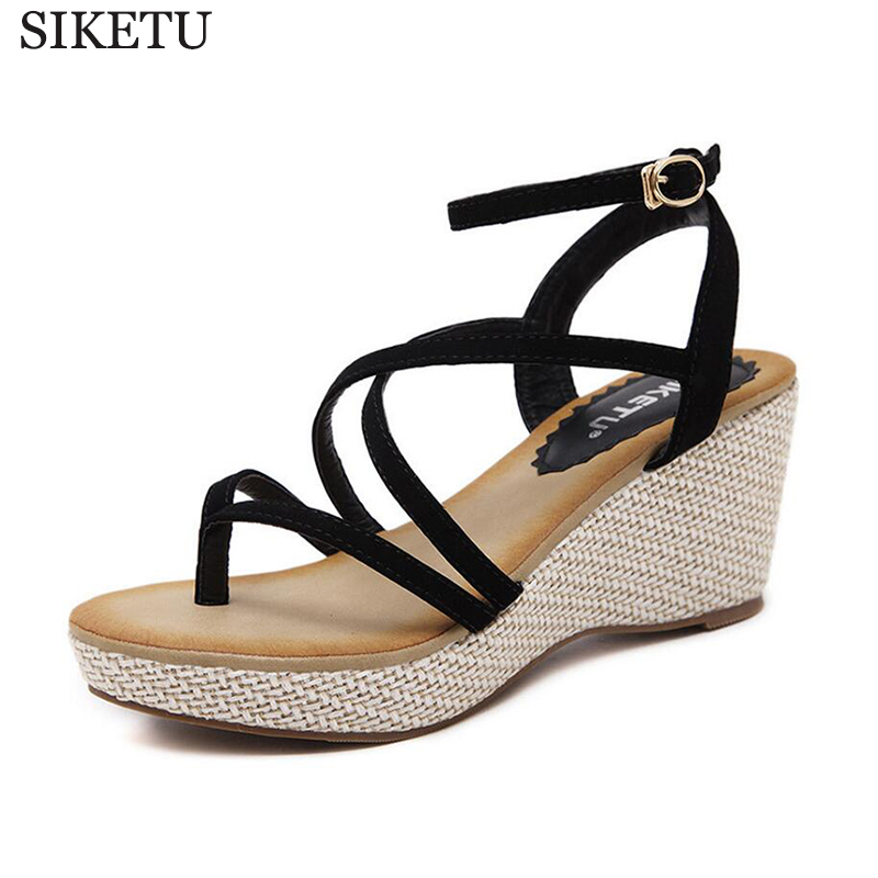 Fashion Sandals Summer Wedges Women's Sandals Platform Flip Flops open toe high-heeled Women shoes gladiator sandals women k204 phyanic 2017 gladiator sandals gold silver shoes woman summer platform wedges glitters creepers casual women shoes phy3323