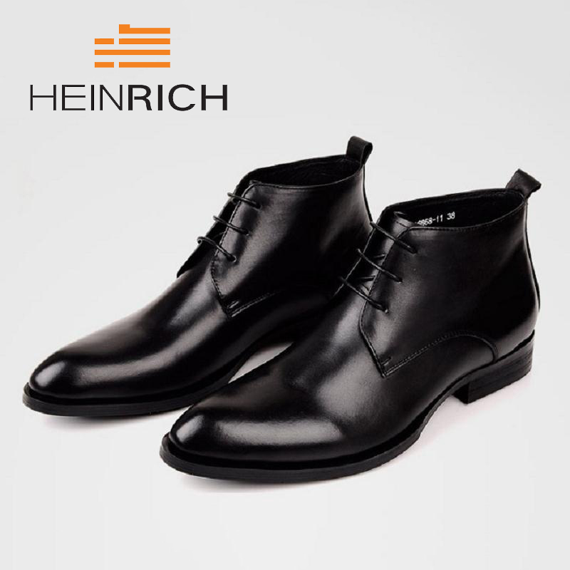 HEINRICH Brand New Arrival Fashion Luxury Designer Men Shoes High Quality Brown Men Ankle Boots Zapatos Casuales De HombreHEINRICH Brand New Arrival Fashion Luxury Designer Men Shoes High Quality Brown Men Ankle Boots Zapatos Casuales De Hombre