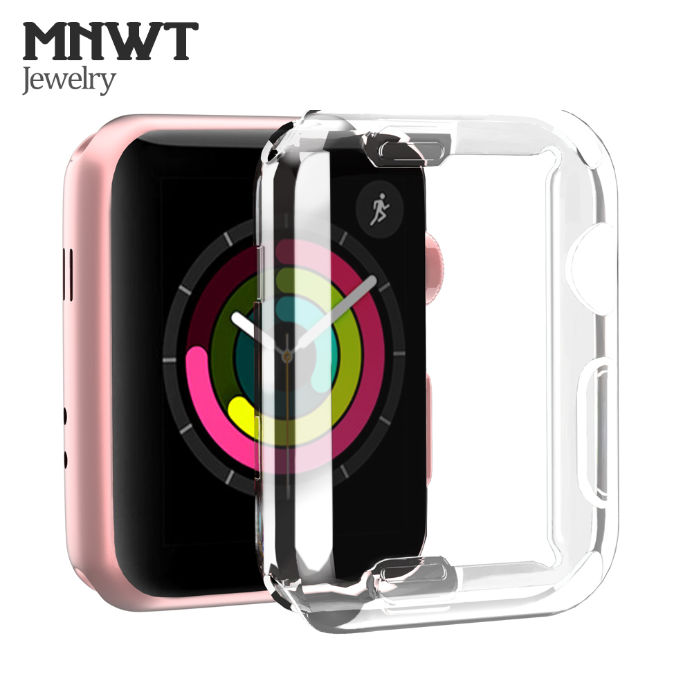 MNWT Ultra thin Soft Case for Apple Watch Series 1 2 3 Screen Protector 42mm/38mm TPU All around