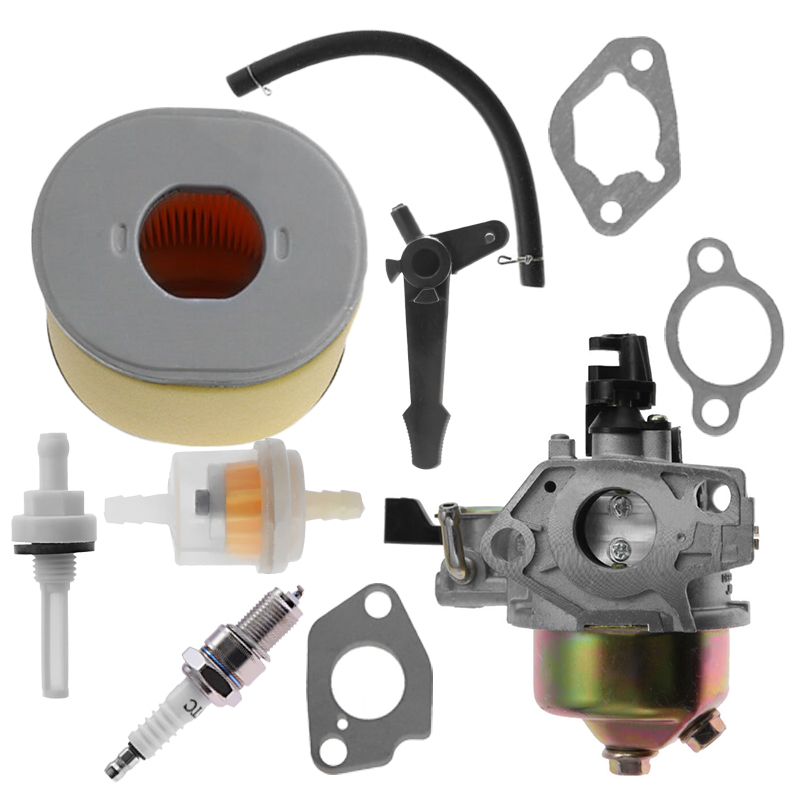 Carburetor With Air Filter Kit Fits For Honda GX240 8HP, GX270 9HP Generator Replacement 3500-ZE2-W71&16100-ZH9-W21