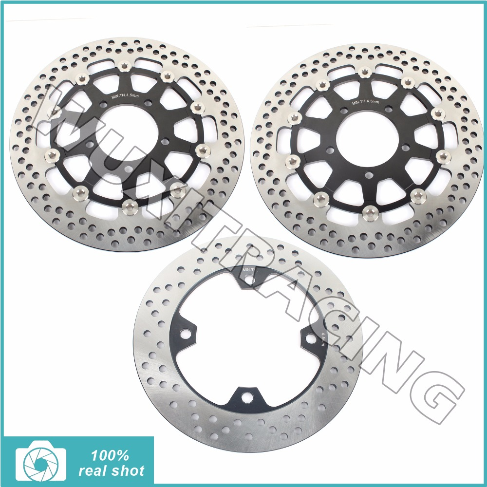 Full set front rear brake discs rotors for kawasaki er6 f er6f 650 2006 2007 2008 er6 n 650 06-11 kle