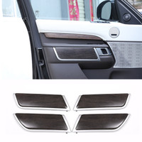 ABS Oak Wood Style Car Interior Door Decoration Panel Cover Trim For Land Rover Discovery 5 2017 Replacement Parts Car Accessory