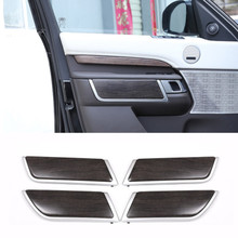 все цены на ABS Oak Wood Style Car Interior Door Decoration Panel Cover Trim For Land Rover Discovery 5 2017 Replacement Parts Car Accessory онлайн