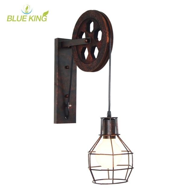 Loft Applique Industrielle Vintage 1 Lumière Réglable Fer Applique