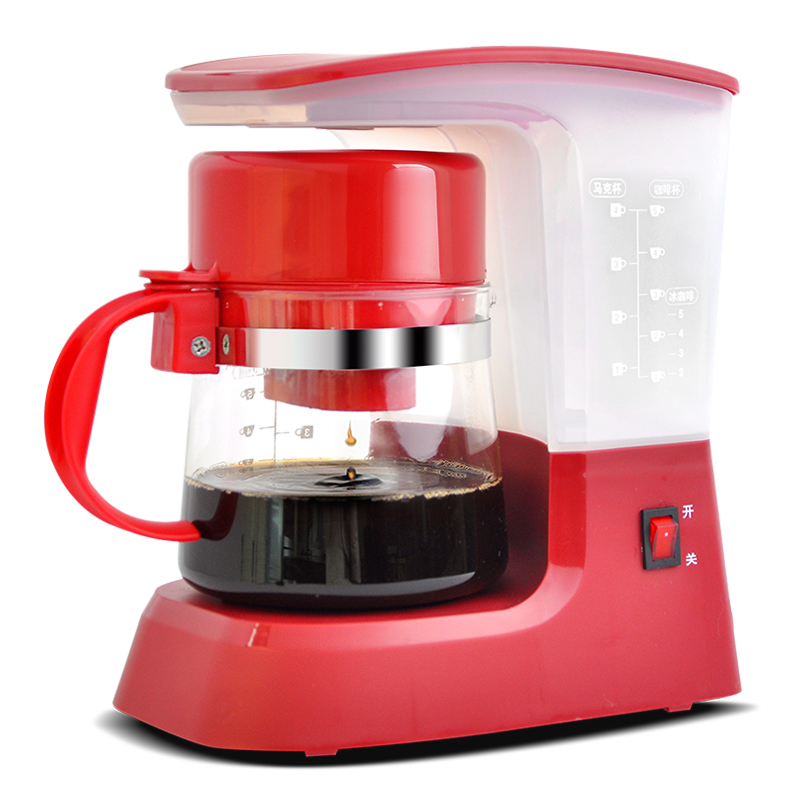 DMWD 600ML Semi-automatic Drip Coffee Machine American Coffee Maker Tea Machine With Coffee Pot Heat Preservation 220V coffee maker uses the american drizzle to make tea drinking machine