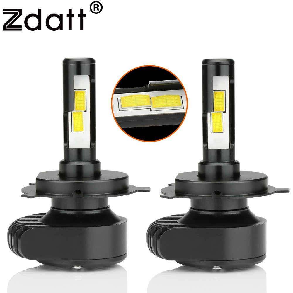 Zdatt H4 H7 H8 H9 H11 Led Canbus Motorcycle Headlight Bulb CSP 80W 8000Lm Led Car Light 12V 24V 6000K White LED Lamp Automobiles
