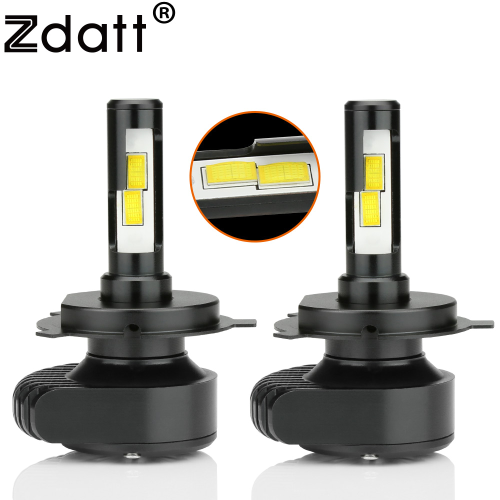 Zdatt H4 H7 H11 Led Car Lights Canbus Headlight Bulb CSP 80W 8000Lm 12V 24V 6000K White LED Lamp for Cars Automobiles Motorcycle