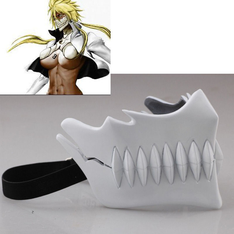 Japanese cartoon Free shipping Bleach Anime Hollow Mask Tear Halibel Anime Cosplay Masks Fangs Halloween Prop