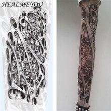 Skin Proteive, стрейчевые, Временные татуировки, рукава, чулки на руку, дизайн, 10 видов стилей, смешанные, нейлоновые, мужские, унисекс, модные, гетры на руку