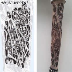 Кожа Proteive эластичный FakeTemporary татуировки рукава рука чулки для женщин дизайн 10 видов стилей Mix нейлон для мужчин унисекс Мода рука теплее