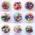 O Envio gratuito de 100 Pçs/lote 20 MM Chunky Bubblegum Acrílico Impresso Contas de Pérolas Falsas E Stripe Rhinestone Beads Para Crianças Feitos À Mão