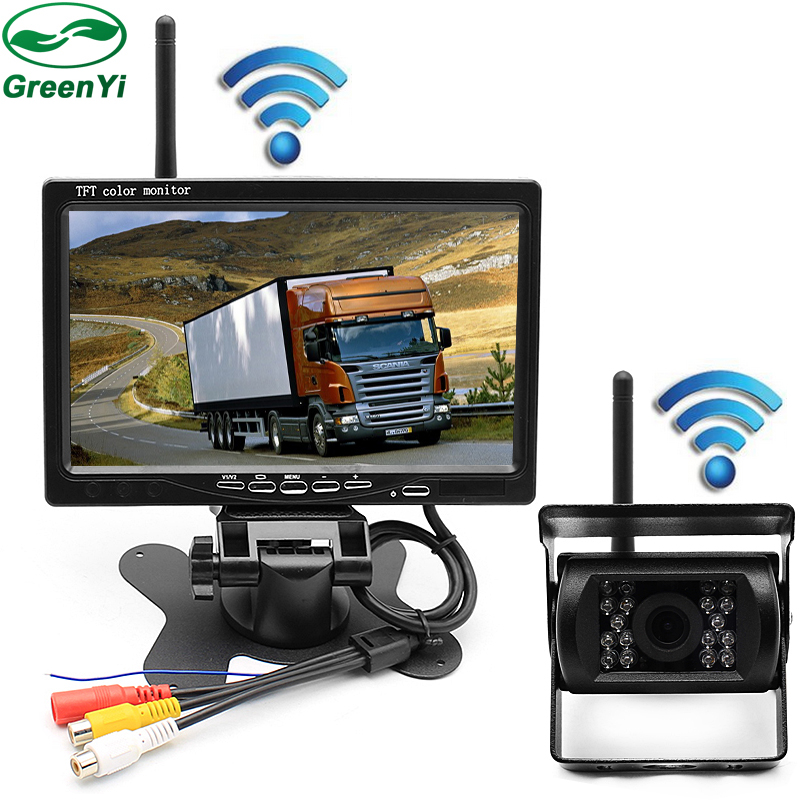 GreenYi 2 4 GHz Wireless Parking Rear View Camera 2 4 GHz Wireless 7 inch Car