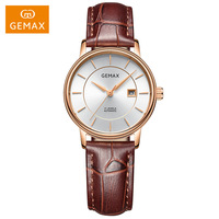 1 Pair GEMAX Men Women Watches 24 JEWELS Automatic Watch Luxury 50 M Waterproof Mechanical Couple Watches Lovers Wristwatches