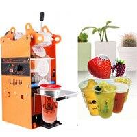Hohe Qualität WY-802K Halbautomatische Bubble Tea Cup verschließmaschine Saft Schaleneichmeister 220 V