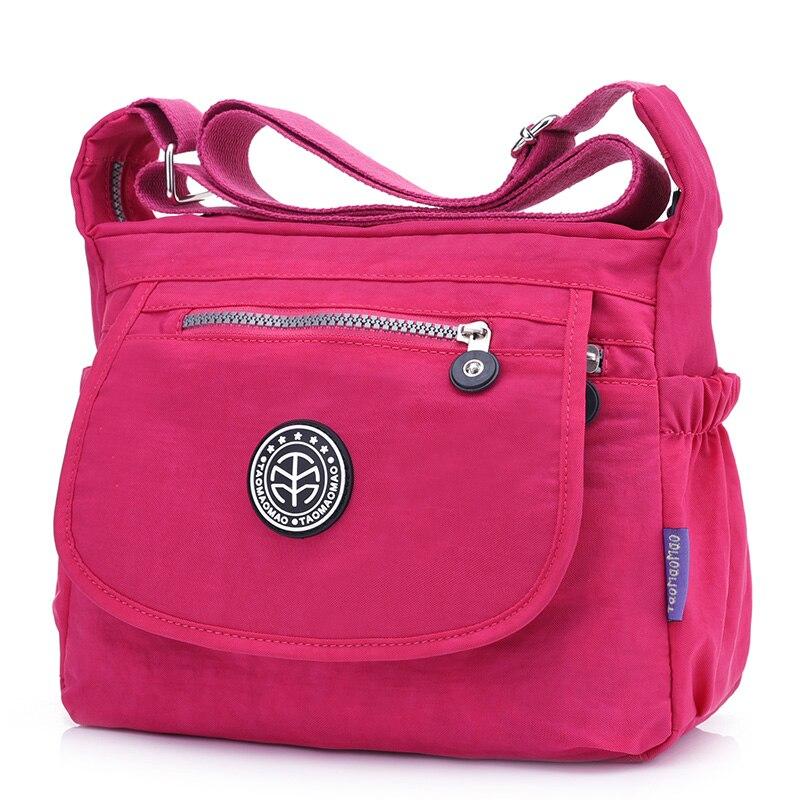 Impermeable Nylon Mujeres Messenger Bags Ocio Moda Fresca Femenina Crossbody Bolsas Escuela de Niñas Estudiante Bolsas de Hombro