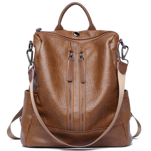 Women Backpack Purse PU Leather Fashion Travel Casual Detachable  Convertible Ladies Shoulder Bag b39dd94e1d4a8