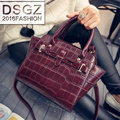 2016 Fashion Designer Brand Women Crocodile Pattern Vintage Handbags Ladies Shoulder Bags Tote Bag Retro Messenger Women Bags