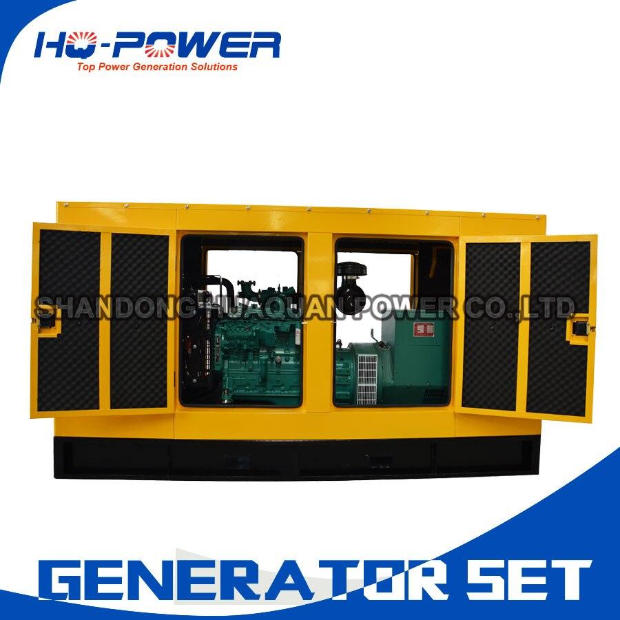Немой дизель генератор 100kw 125kva 6 цилиндров бесщеточный поколения