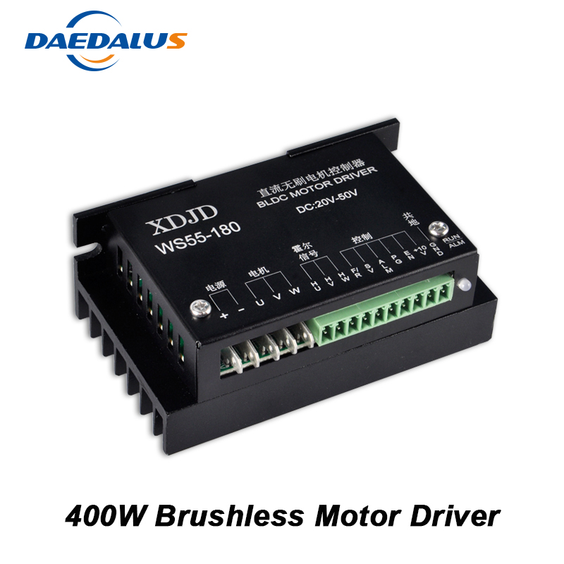 New CNC Controller DC 20-50V Stepper Motor Driver Brushless DC Motor Driver For 400W Machine Tool Spindle bldc stepper motor driver controller servo motor driver dc 24 50v brushless dc motor driver for 600w router spindle milling tool