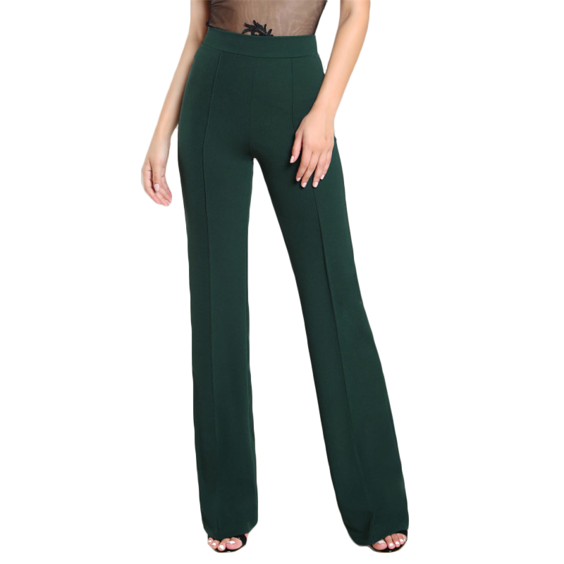 0f060c1ca6 2019 Wholesale SHEIN High Rise Piped Dress Pants Army Green Elegant ...