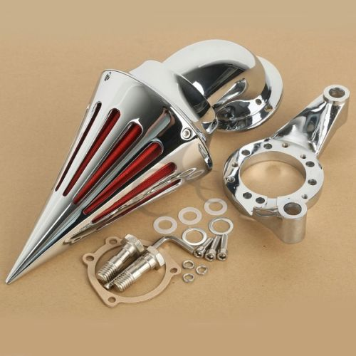 TCMT Motorcycle Chrome Air Cleaner Filter Kit Intake Set for Harley CV Carburetor Delphi V-Twin chrome aluminum motorcycle kit cone spike air cleaner intake filter case for harley cv carburetor delphi v twin