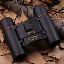 Folding Binoculars Mini Binoculars 30X60 HD Wide Angle Portable Low Light Level Night Vision Pocket Binoculars