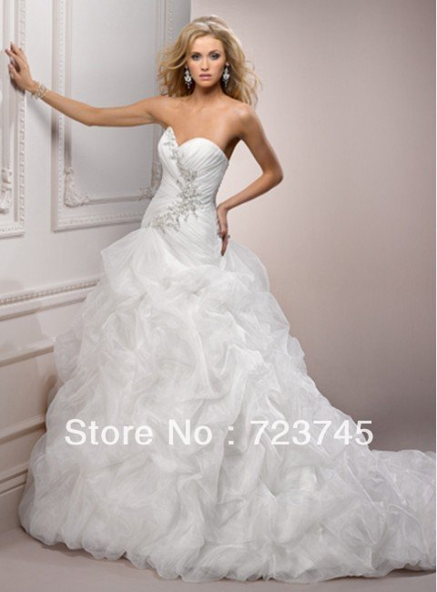 Free shipping 2013 brand designer fashion wedding dress for Designer brand wedding dresses