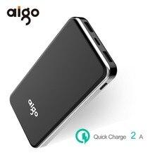 Aigo Мощность Bank 20000 мАч внешний Батарея Quick Charge Мощность Bank Для Xiaomi Мощность банк Портативный повербанк для iPhone SE 8 Huawei
