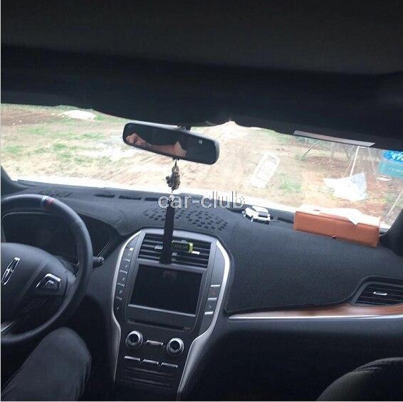Araba dashmats araba şekillendirici aksesuarları dashboard kapak Lincoln MKC için 2015 2016 2017 2018 title=
